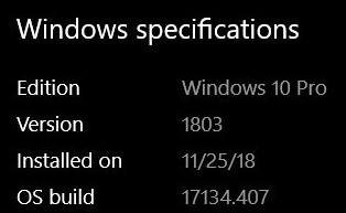 Cumulative Update KB4467702 Windows 10 v1803 Build 17134.407 - Nov. 13-2018-11-27_093444.jpg