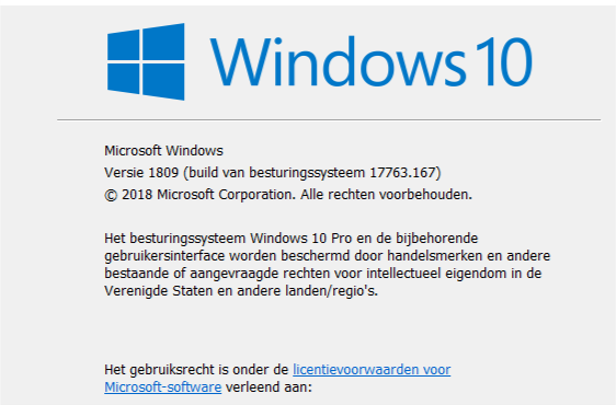 KB4469342 Windows 10 Insider RP v1809 Build 17763.168 - Dec. 3-afbeelding.png