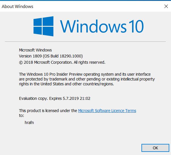 New Windows 10 Insider Preview Fast + Skip Build 18290 (19H1) -Nov. 28-einver.png