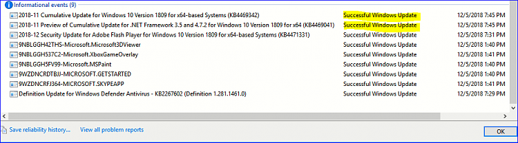 Cumulative Update KB4469342 Windows 10 v1809 Build 17763.168 - Dec. 5-image.png