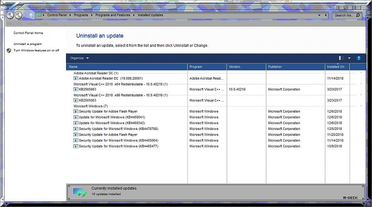 Cumulative Update KB4469342 Windows 10 v1809 Build 17763.168 - Dec. 5-update-history-control-panel.png