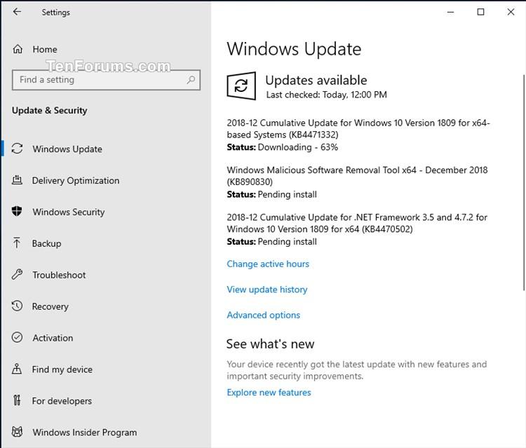 microsoft update catalog windows 10 1809