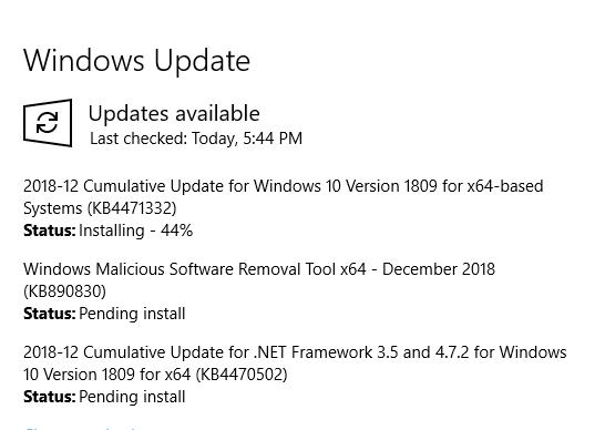 Cumulative Update KB4471332 Windows 10 v1809 Build 17763.194 - Dec. 11-image.png