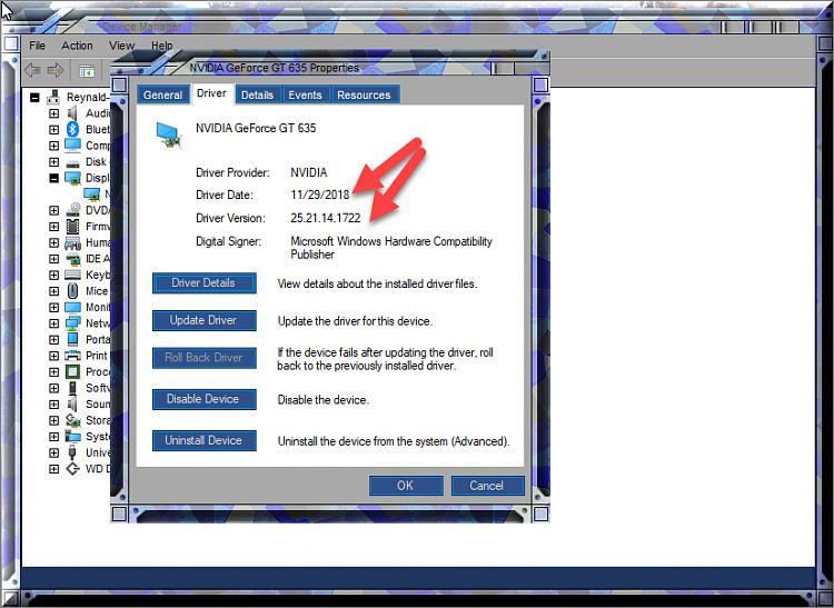 Cumulative Update KB4471332 Windows 10 v1809 Build 17763.194 - Dec. 11-nvidia-geforce-635-after-display-adapter-update.png