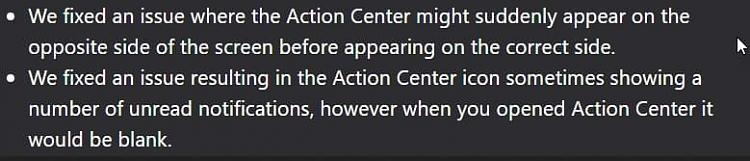 Cumulative Update KB4471332 Windows 10 v1809 Build 17763.194 - Dec. 11-action-center-notification-issues.jpg