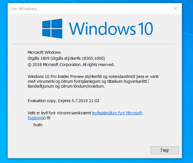 New Windows 10 Insider Preview Fast Build 18305.1003 (19H1) - Dec. 20-winver.png