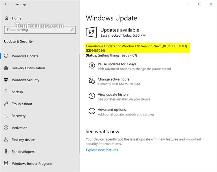 New Windows 10 Insider Preview Fast Build 18305.1003 (19H1) - Dec. 20-kb4483214.jpg