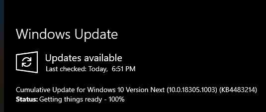 New Windows 10 Insider Preview Fast Build 18305.1003 (19H1) - Dec. 20-update.png