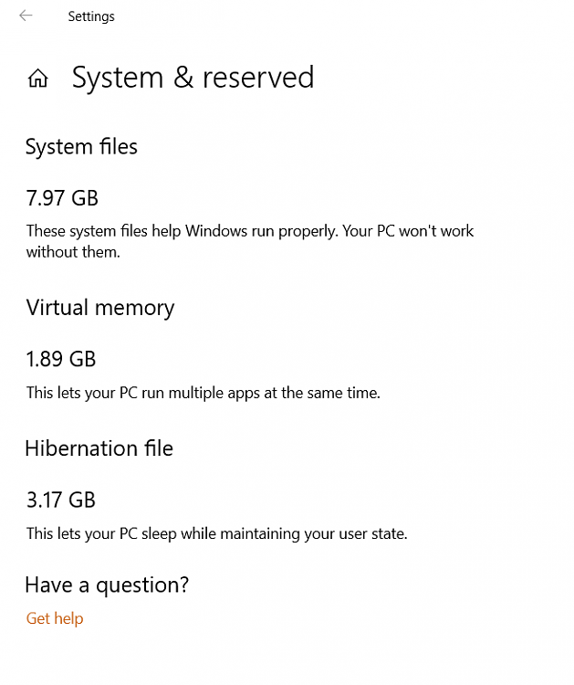 Reserving disk space to keep Windows 10 up to date Insider