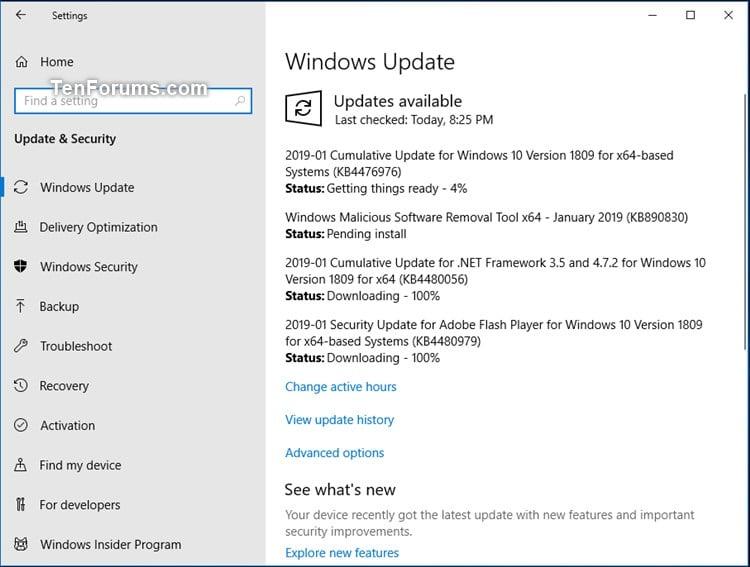 Cumulative Update KB4476976 Windows 10 v1809 RP Build 17763 288 Jan