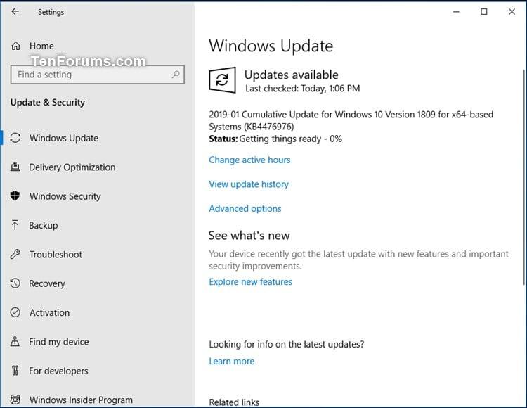Cumulative Update KB4476976 Windows 10 v1809 RP Build 17763 292 Jan