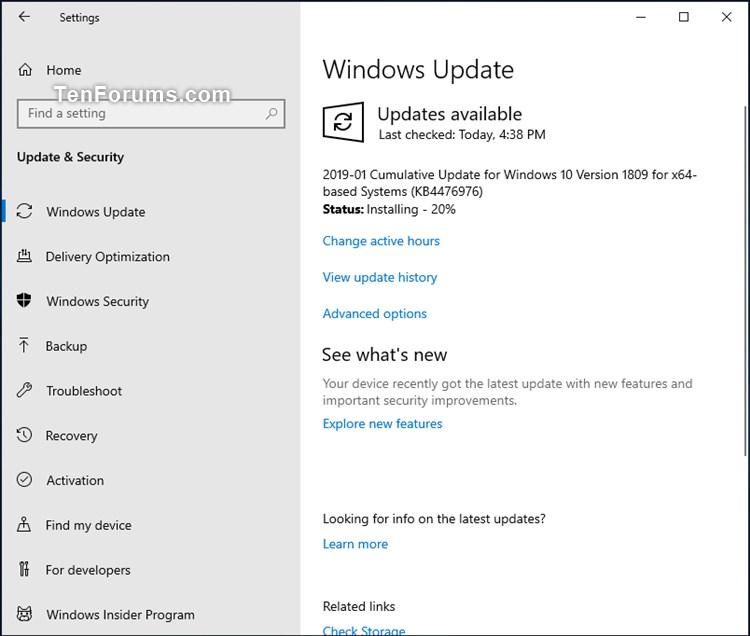 Cumulative Update KB4476976 Windows 10 v1809 Build 17763 292