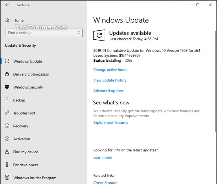 Cumulative Update KB4476976 Windows 10 v1809 Build 17763.292 - Jan. 22-kb4476976.jpg
