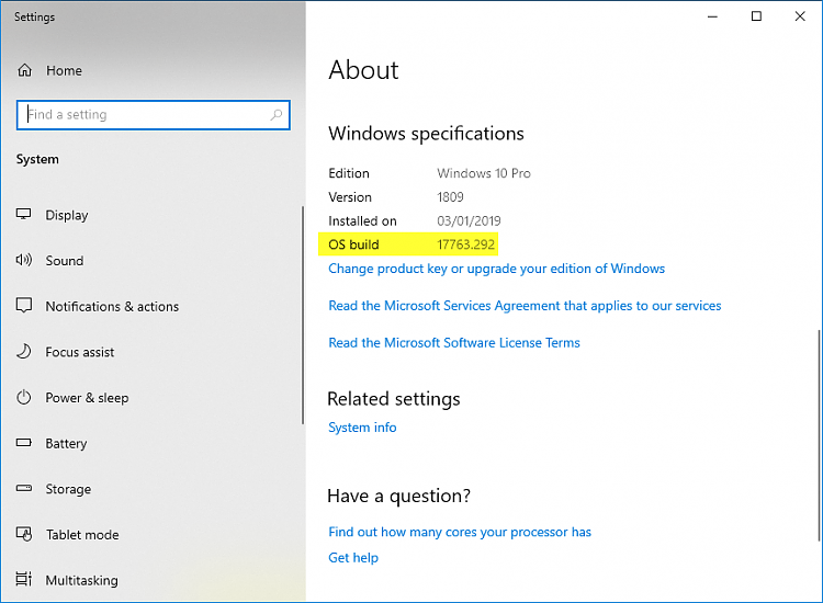 Cumulative Update KB4476976 Windows 10 v1809 Build 17763.292 - Jan. 22-17763.292.png