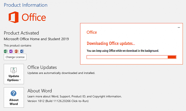 Office 365 Monthly Channel v1901 build 11231 20130 - January 31