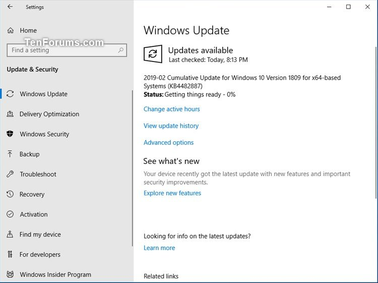 Cumulative Update KB4482887 Windows 10 RP Build 17763.346 - Feb. 20-kb4482887.jpg