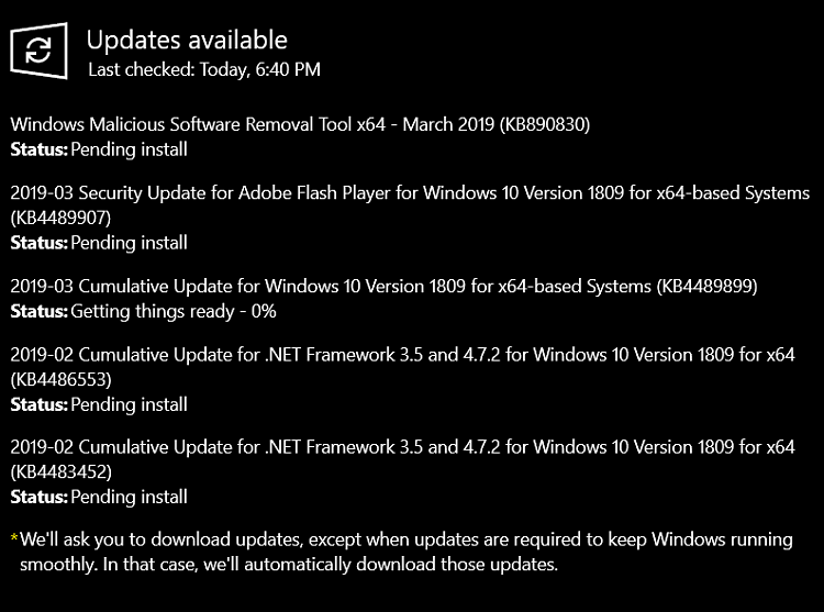 Cumulative Update KB4489899 Windows 10 v1809 Build 17763.379 - Mar. 12-image.png