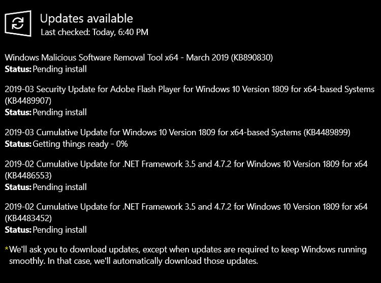 Cumulative Update KB4489899 Windows 10 v1809 Build 17763.379 - Mar. 12-image.png