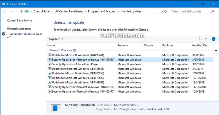 New KB4493510 Servicing Stack Update for Windows 10 RP v1809