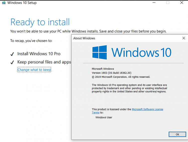 New Windows 10 Insider Preview Fast+Slow 18362 30 (19H1