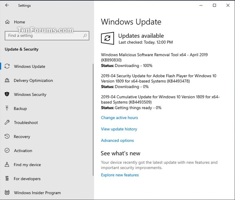 KB4493478 Security Update for Adobe Flash Player to Windows 10-kb4493509.jpg