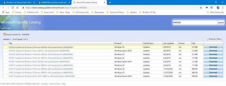 KB4465065 Intel Microcode Updates for Windows 10 v1809 - Sept. 26-muc.jpg