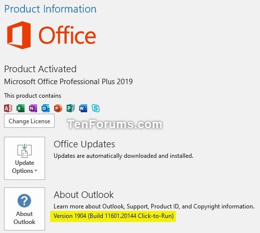 Office 365 Monthly Channel v1904 build 11601 20144 - April