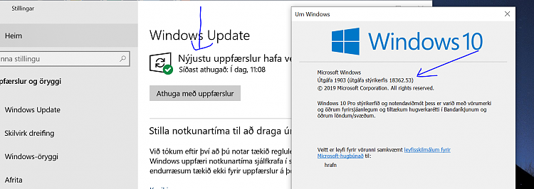 Current Status of Windows 10 October 2018 Update version 1809-up2date.png