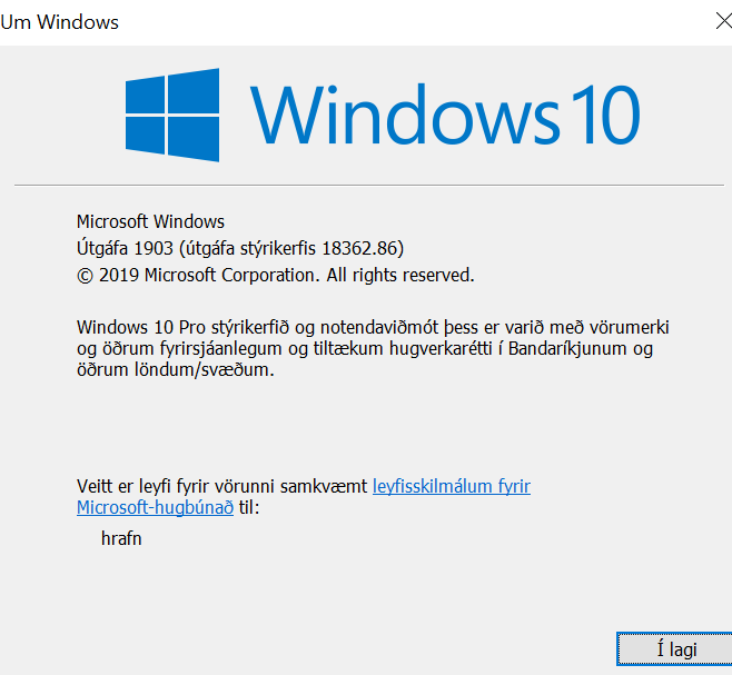 Windows 10 May 2019 Update version 1903 rollout approach-winver.png