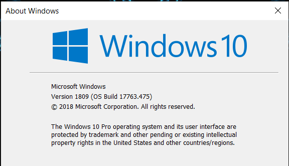 Cumulative Update KB4495667 Windows 10 v1809 Build 17763.475 - May 3-image.png