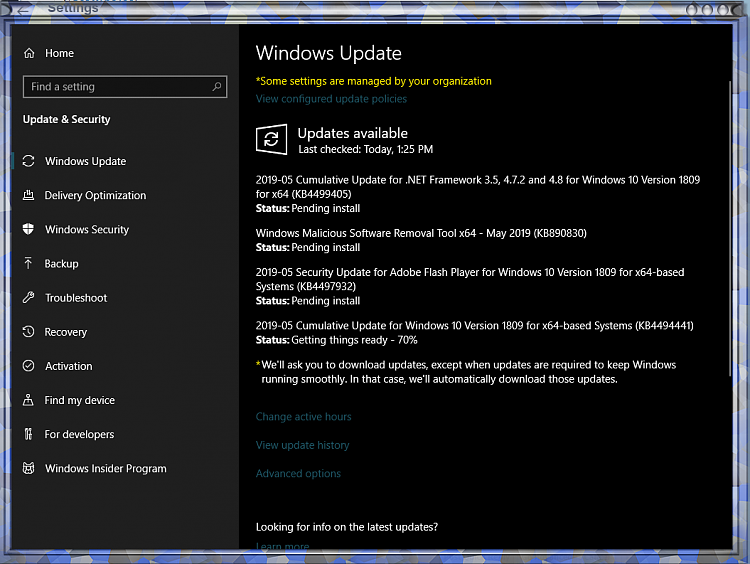 Cumulative Update KB4494441 Windows 10 v1809 Build 17763 503