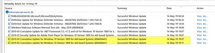 Cumulative Update KB4494441 Windows 10 v1809 Build 17763.503 - May 14-image.png
