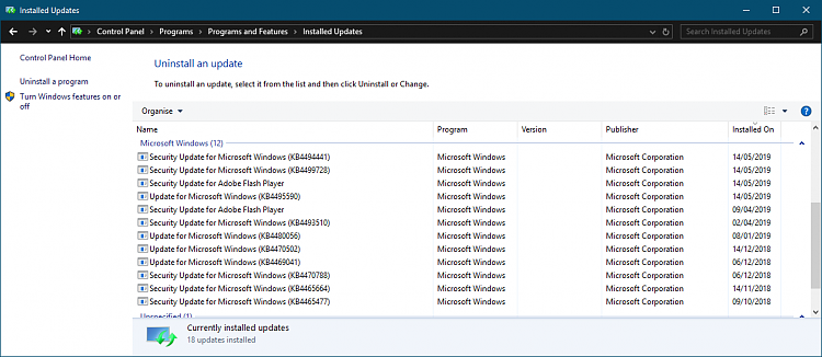 Cumulative Update KB4494441 Windows 10 v1809 Build 17763.503 - May 14-2019-05-14.png