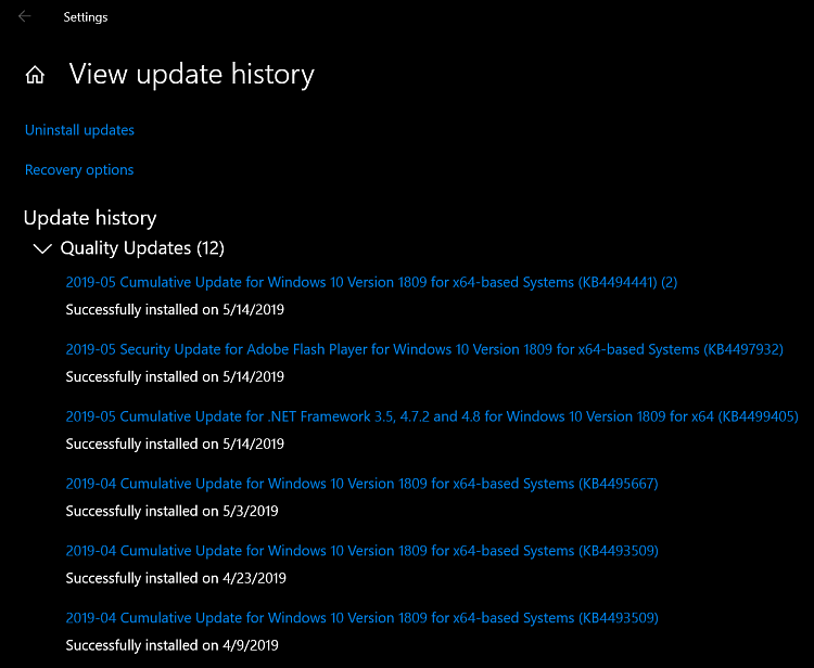 Cumulative Update KB4494441 Windows 10 v1809 Build 17763.503 - May 14-2019-05-14_14h22_54.png