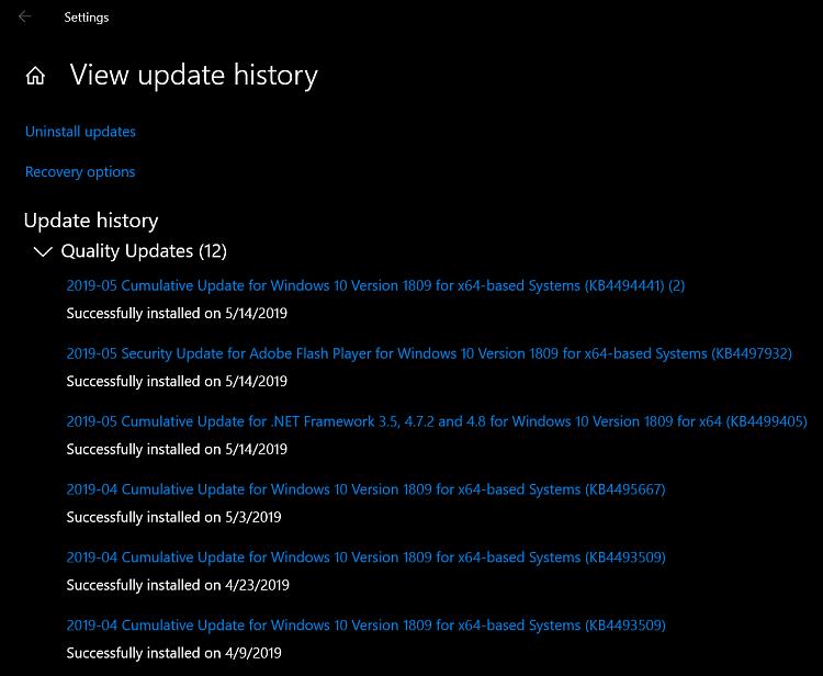 Cumulative Update KB4494441 Windows 10 v1809 Build 17763.503 - May 14-2019-05-14_14h22_54.png