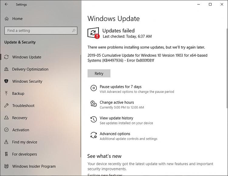 Cumulative Update KB4497936 Windows 10 Insider 1903 build 18362.113-kb4497936_failed.jpg