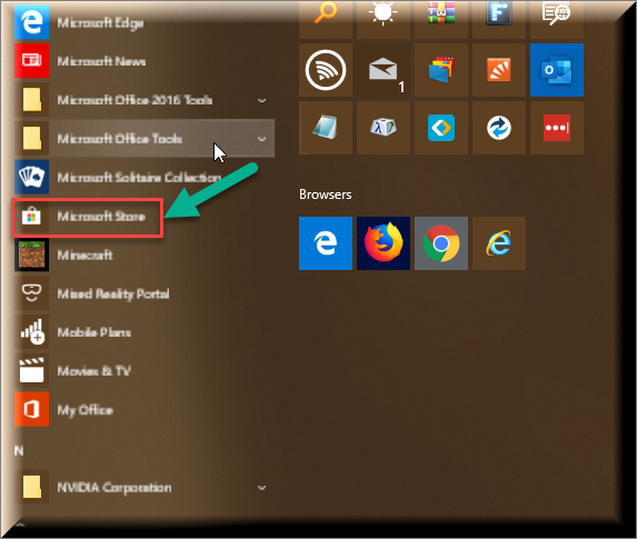 Click image for larger version.  Name:Microsoft Store In Start Menu.png Views:106 Size:219.5 KB ID:234001