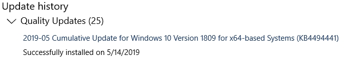 Click image for larger version.  Name:Windows 10 1809 Version Discrepancy (Update History).jpg Views:92 Size:28.8 KB ID:234059