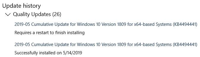 Click image for larger version.  Name:Windows 10 1809 Version Discrepancy (WU do-over).jpg Views:92 Size:54.7 KB ID:234061