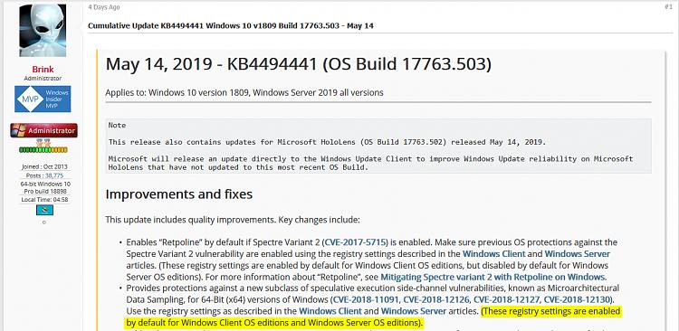 Cumulative Update KB4494441 Windows 10 v1809 Build 17763.503 - May 14-mds_registry_entries.png