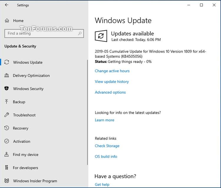 Cumulative Update KB4505056 Windows 10 v1809 Build 17763 504