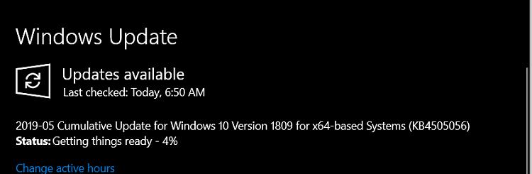 Cumulative Update KB4505056 Windows 10 v1809 Build 17763.504 - May 19-image.png