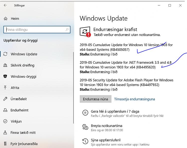 Cumulative Update KB4505057 Windows 10 v1903 build 18362.116 - May 19-update_hist.png