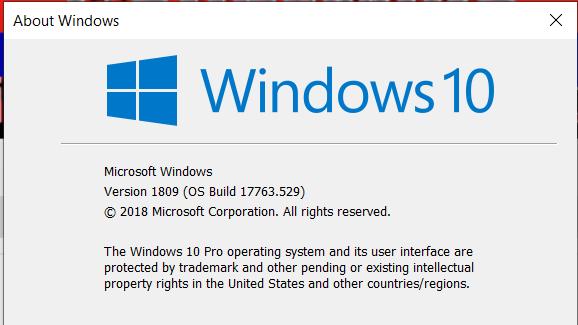 Cumulative Update KB4497934 Windows 10 v1809 Build 17763.529 - May 21-image.png