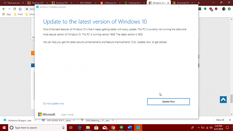 How to get the Windows 10 May 2019 Update version 1903