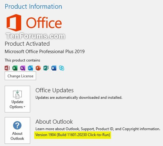 Office 365 Monthly Channel v1904 build 11601 20230 - May 22 Office