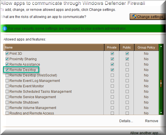 Click image for larger version.  Name:Remote desktop in WD Firewall to be ticked.png Views:104 Size:39.4 KB ID:234765