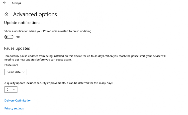 How to get the Windows 10 May 2019 Update version 1903-1903-upgrade-defer-features-update-missing.png