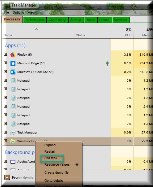 Click image for larger version.  Name:End Task For File Explorer.png Views:74 Size:89.2 KB ID:236250