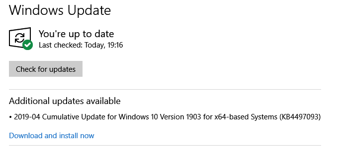 Windows 10 May 2019 Update version 1903 rollout approach-kb4497093.png